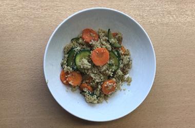 Gemüse mit Quinoa